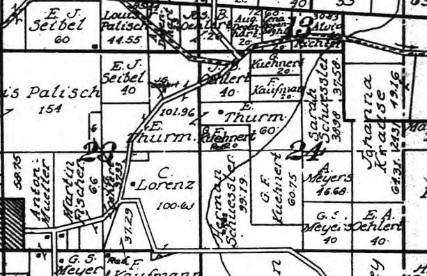 E. Thurm land map