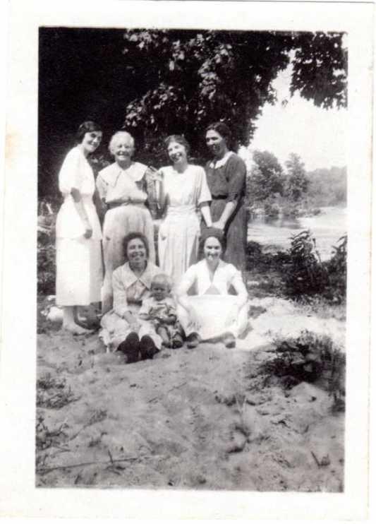 Elizabeth Sandler with other Sandler women