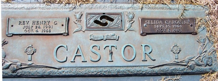 Henry Selida Castor grave marker