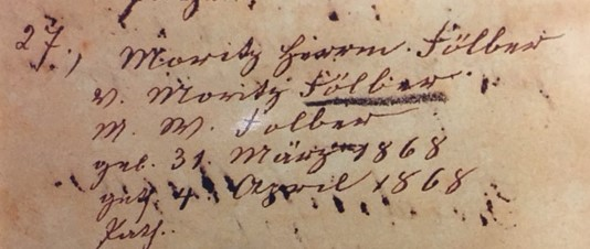 Herman Foelber birth record Trinity Altenburg