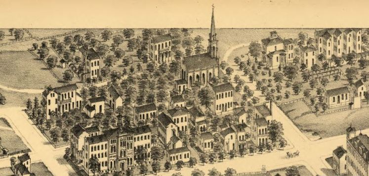 Holy Cross Concordia Seminary neighborhood 1876 map
