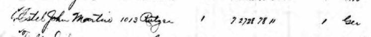 John Martin Estel death record St. Louis 1