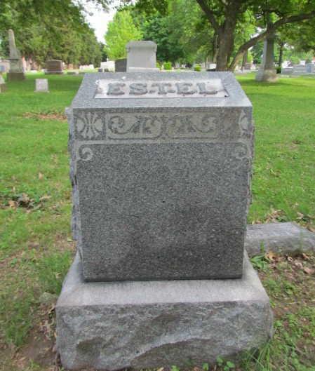 John Martin Estel gravestone