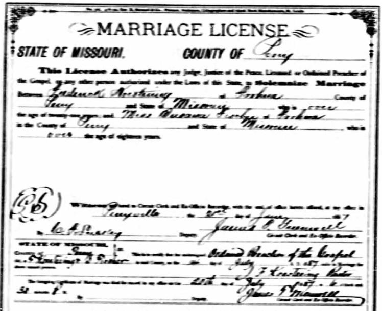 Koestering Fischer marriage license