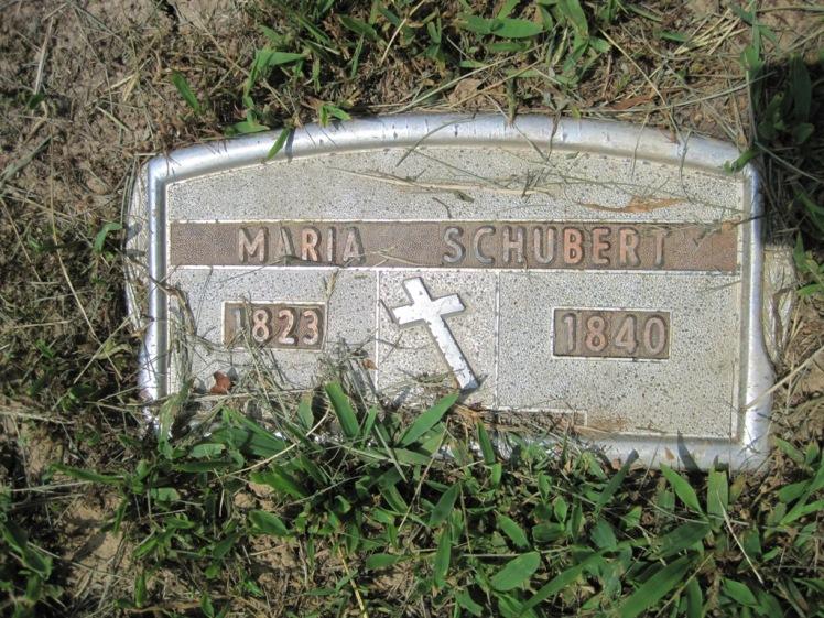 Maria Schubert grave marker
