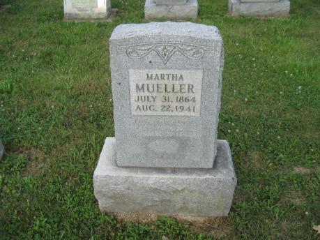 Martha Koenig Mueller gravestone Farrar