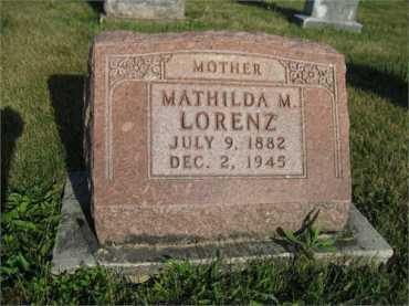 Mathilda Lorenz gravestone