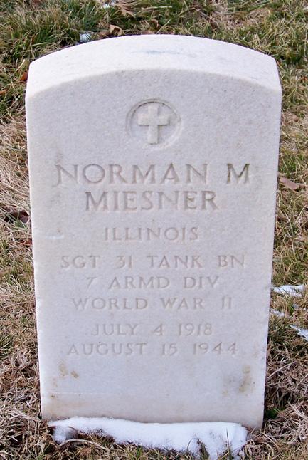 Norman Miesner gravestone