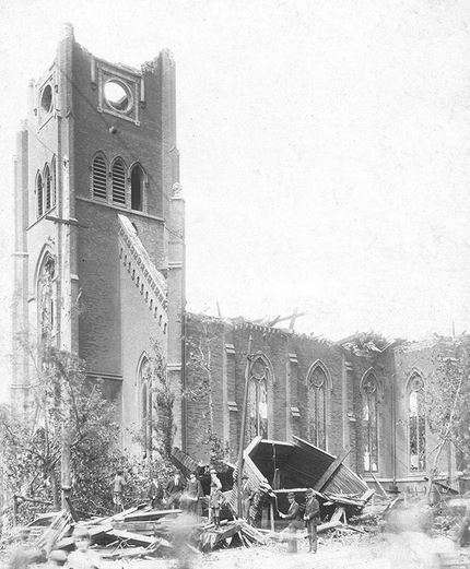 Old Trinity tornado damage 1896