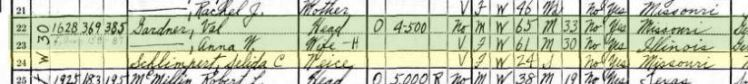 Selida Schlimpert 1930 census OK City OK
