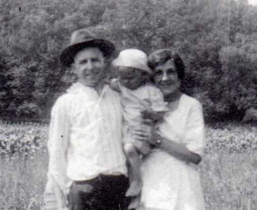 Walter and Elizabeth Sandler with child
