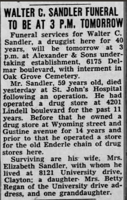 Walter Sandler obituary