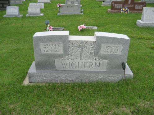 William and Emma Wichern gravestone Immanuel Perryville
