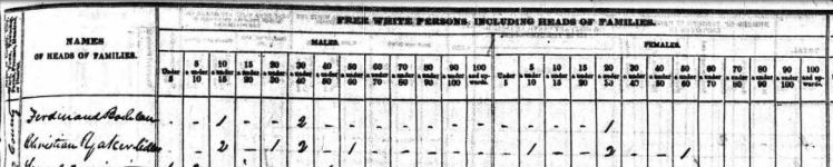 1840 census heading
