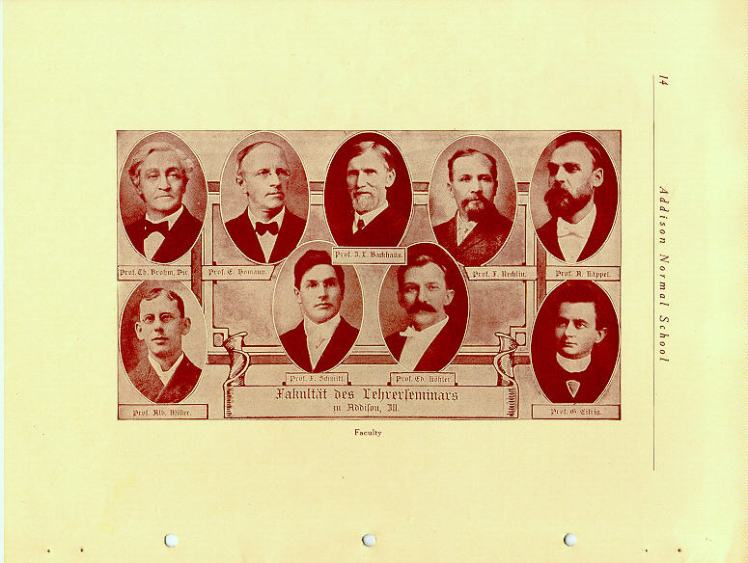 Addison faculty 1912