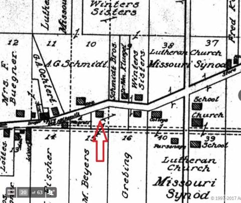 Adolph Schmidt land map 1915