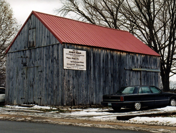 Adolph Schmidt's blacksmith shop