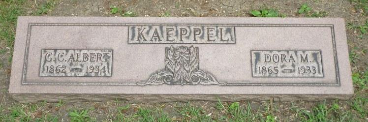 Albert Dora Kaeppel gravestone.jpg