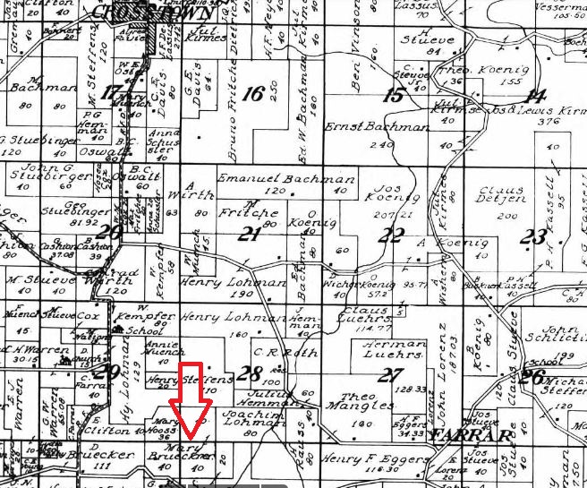 Brueckner land map Farrar