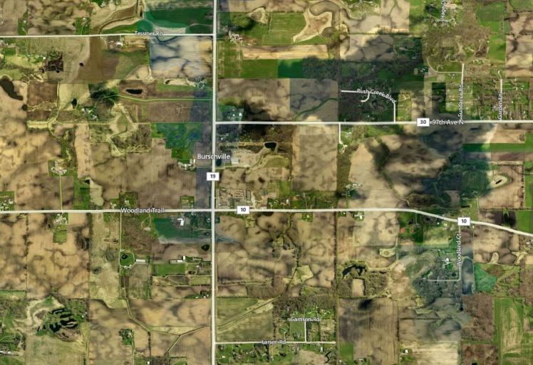 Burschville MN map