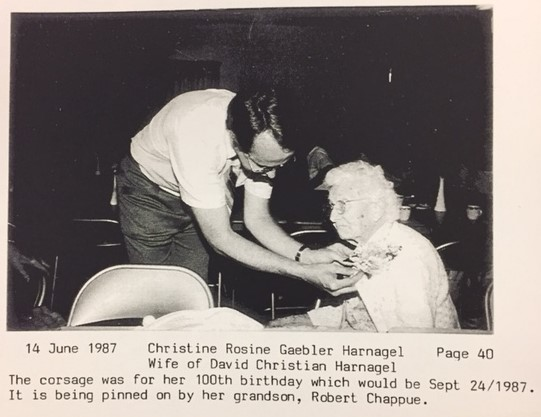 Christine Harnagel 100th birthday