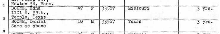 Edna Boone passenger list USNS Geiger 1953