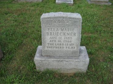 Ella Brueckner gravestone Farrar