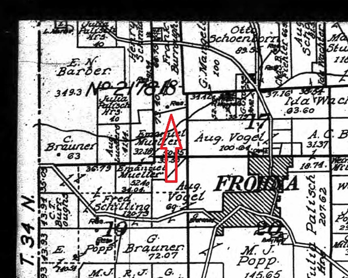 Frank Burroughs land map 1915