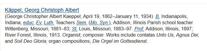 G C A Kaeppel Lutheran Cyclopedia