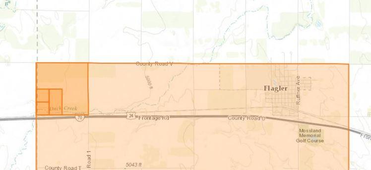 Heinrich Blancken land map Flagler CO