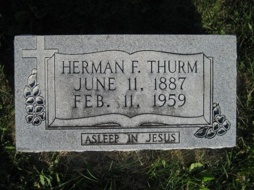 Herman Thurm gravestone Wittenberg