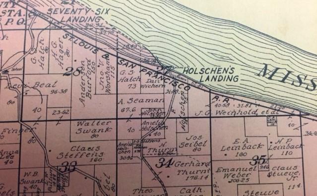 Holschen land map 1915