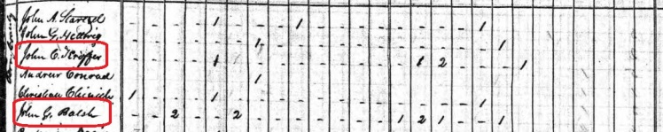 J.G. Palisch 1840 census Perry County