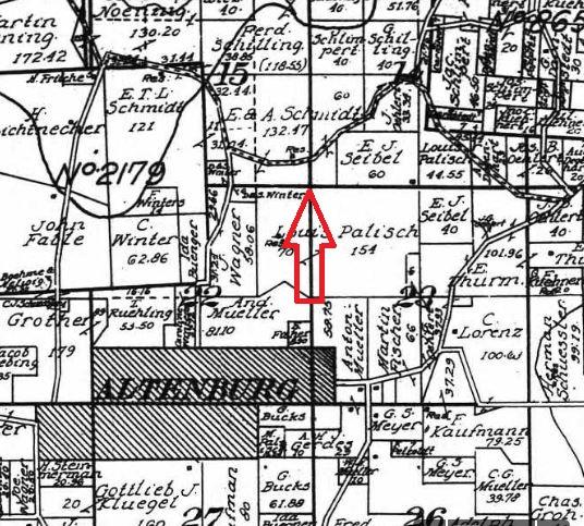 Jacob Schmidt land map 1915