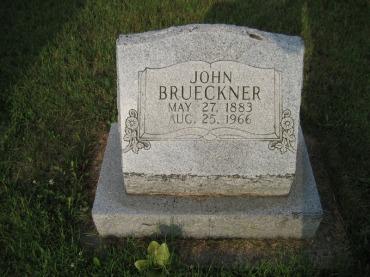 John Brueckner gravestone Farrar