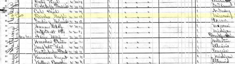 Joseph Fischer 1880 census Ft. Wayne IN