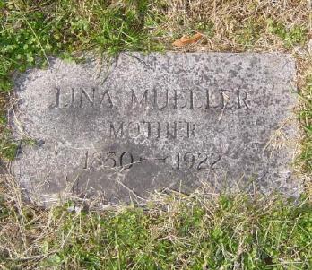 Lina Mueller gravestone Immanuel Olivette