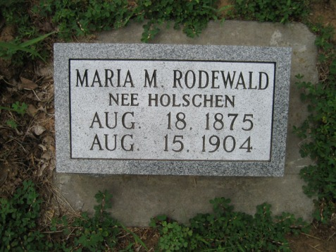 Maria Rodewald gravestone Point Rest