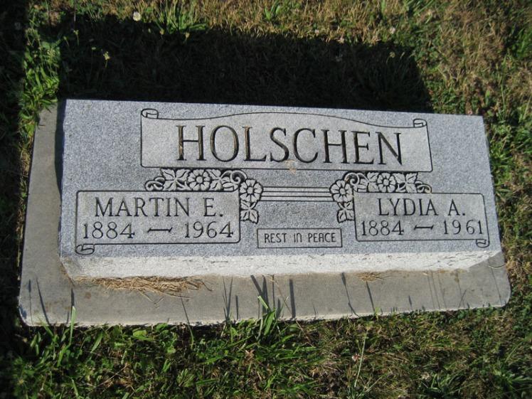 Martin and Lydia Holschen gravestone Trinity Altenburg cemetery