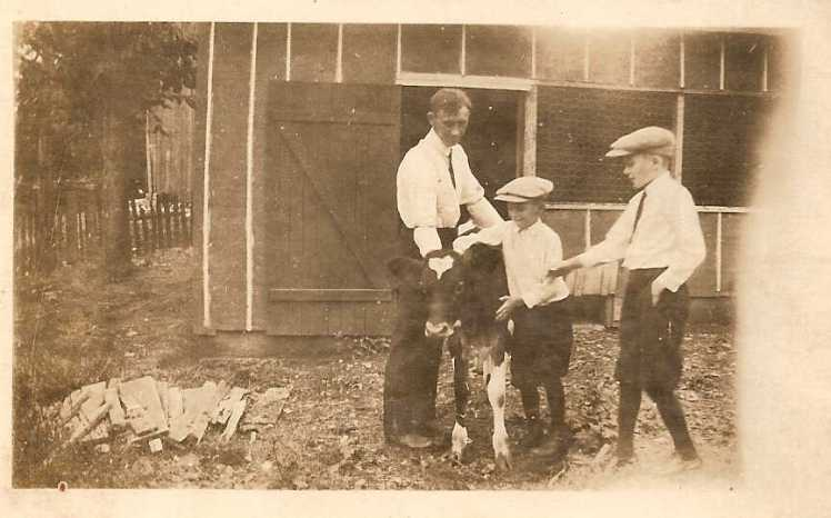 Otto Burroughs with Harold and Marvin