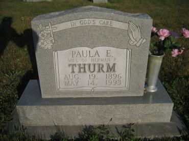 Paula Thurm gravestone Wittenberg