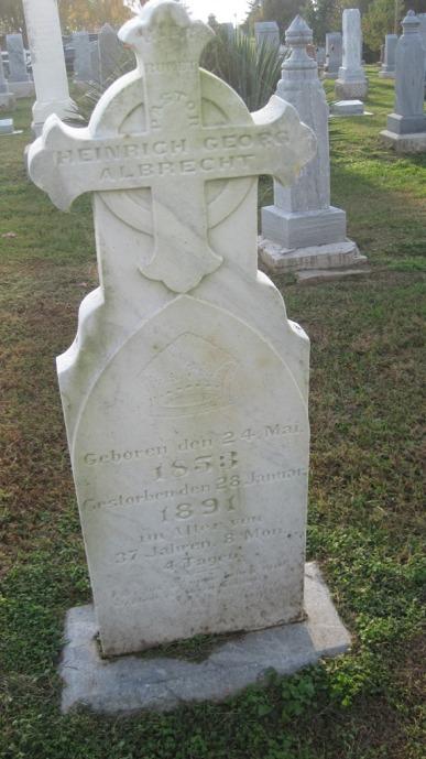 Rev. Heinrich Albrecht gravestone Farrar MO