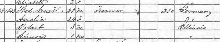Robert Nennert 1860 census Fountain Bluff IL