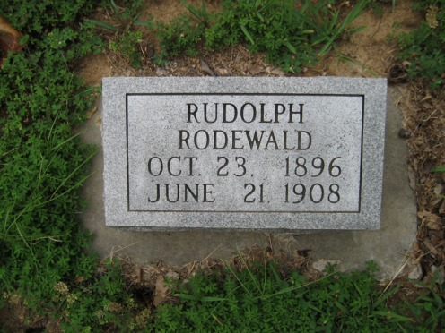 Rudolph Rodewald gravestone Point Rest