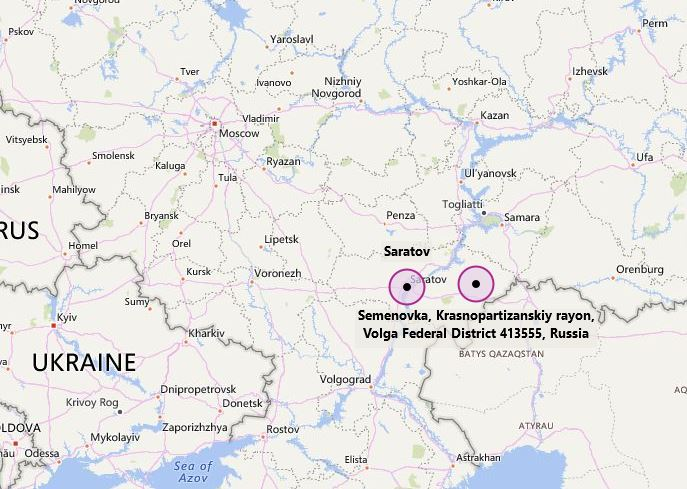 Semenovka, Russia map
