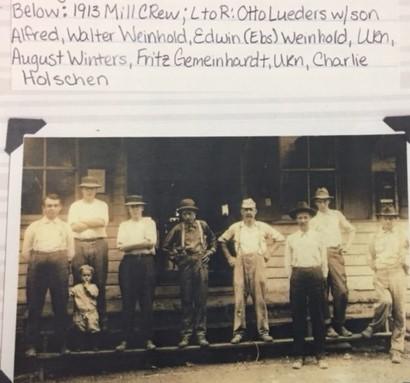 1913 Wittenberg Mill crew Lueders