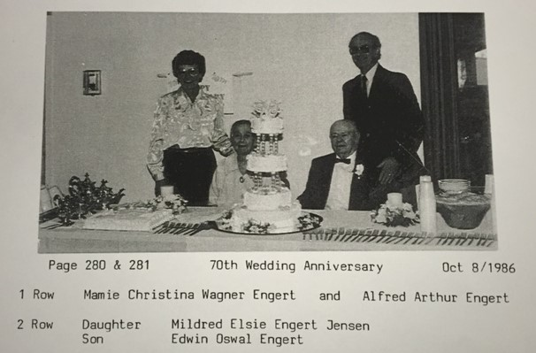 Alfred and Mamie Engert 70th anniversary