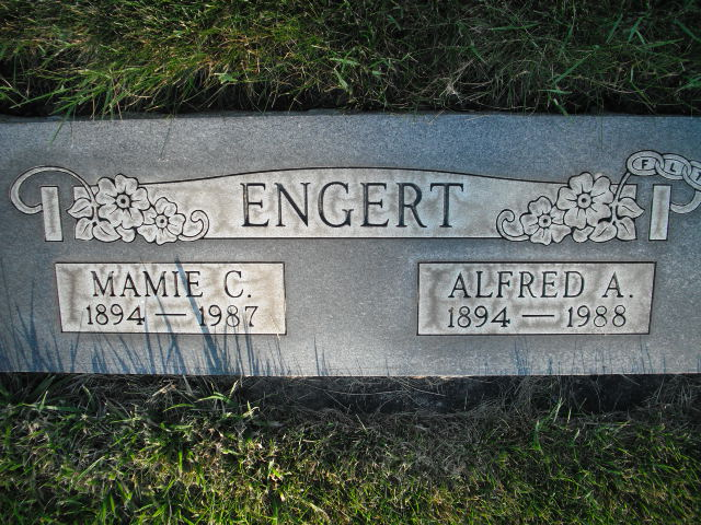 Alfred and Mamie Engert gravestone