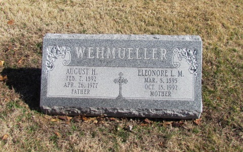 August and Eleonore Wehmueller gravestone