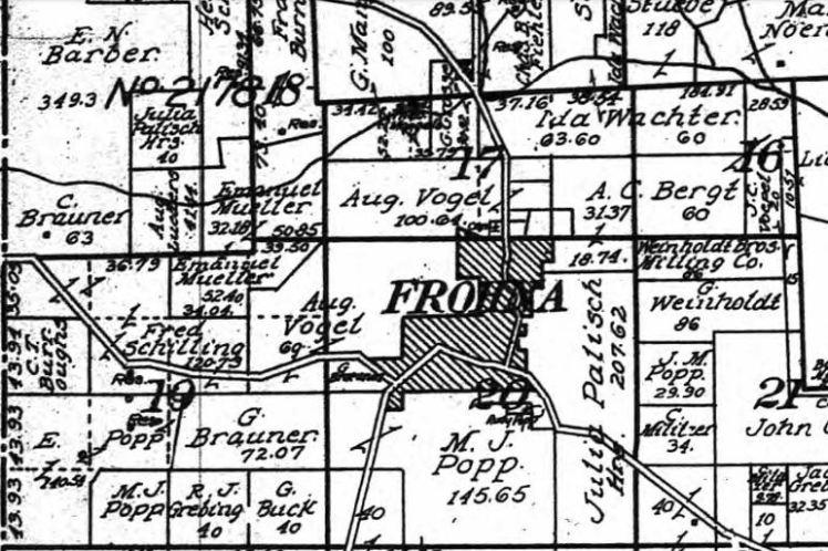August Vogel land map 1915